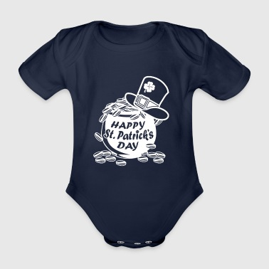 Happy Saint Patrick Day - Funny Ireland T-Shirt - Organic Short-sleeved Baby Bodysuit