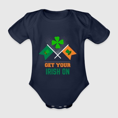 Get your Irish on St Patrick's Day apparel - Organic Short-sleeved Baby Bodysuit