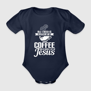 Coffee - Jesus - Religion - Love - Coffee - Organic Short-sleeved Baby Bodysuit