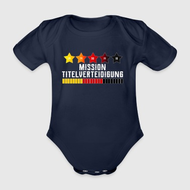 Germany Fußball Fanshirt title defense - Organic Short-sleeved Baby Bodysuit