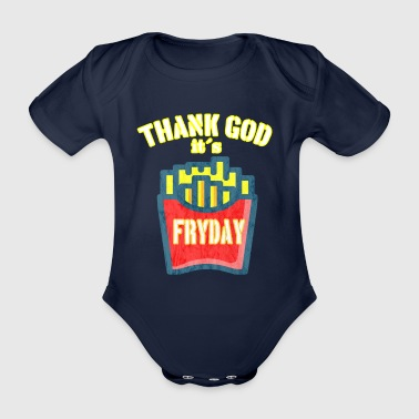 Fryday Fries vintage fries - Organic Short-sleeved Baby Bodysuit