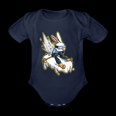 Shop easter baby clothing online spreadshirt cartoon skiing skier bunny easter gift organic short sleeved baby bodysuit negle Choice Image