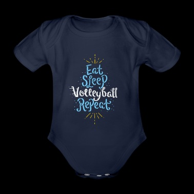 Funny volleyball shirts gift gift idea - Organic Short-sleeved Baby Bodysuit