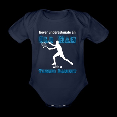 Old tennis player T-shirt tennis oldie farewell - Organic Short-sleeved Baby Bodysuit