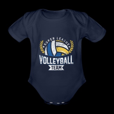 Super league volleyball grunge vintage - Organic Short-sleeved Baby Bodysuit