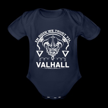 In Odin we trust til VALHALL - with LOKI and THOR - Baby Bio-Kurzarm-Body