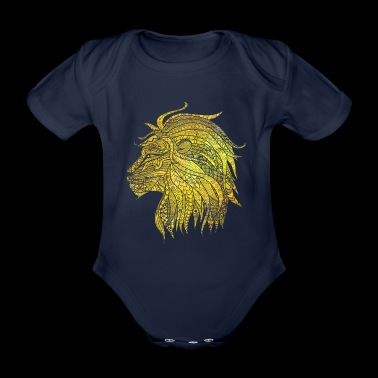 Cadeau de chat de lion Noble King Meow Power - Body bébé bio manches courtes