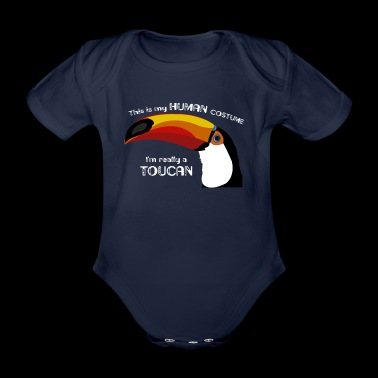 Funny sweet toucan costume gift surprise - Organic Short-sleeved Baby Bodysuit