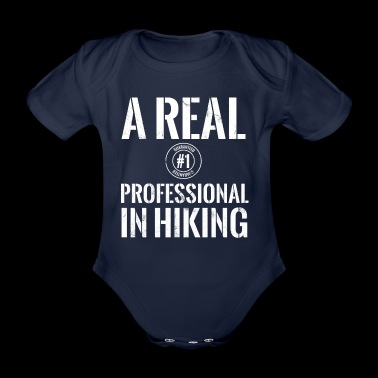 Climbing - mountaineering - mountains - professional - Organic Short-sleeved Baby Bodysuit