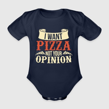 Pizza Opinion Manger Pizzaria Cadeau Italie - Body bébé bio manches courtes