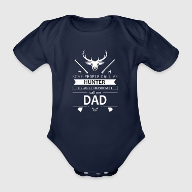 Funny hunter deer wild men father fun gift - Organic Short-sleeved Baby Bodysuit