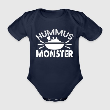 Hummus-monsters - Baby bio-rompertje met korte mouwen
