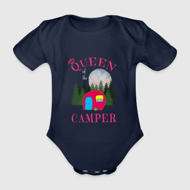 Queen of the Camper - Königin am Platze - Baby Bio-Kurzarm-Body