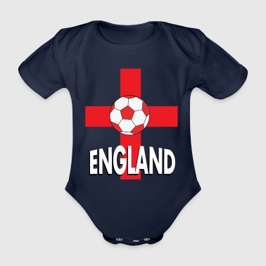 T-shirt Football Angleterre - Body bébé bio manches courtes