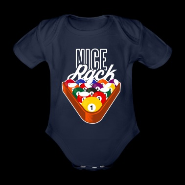 Nice Rack Pool Balls Graphic - Organic Short-sleeved Baby Bodysuit