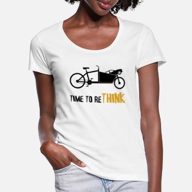 Cargo Cargo Bike Time to Rethink Climate Change - Women's Scoop-Neck T-Shirt
