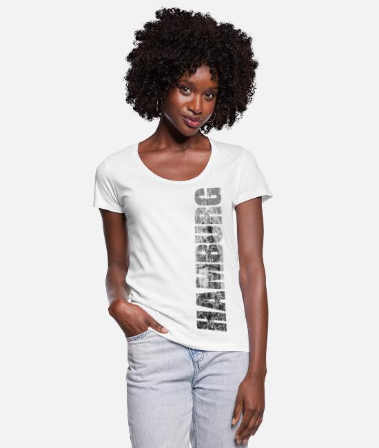 Hanse T-Shirts - Hamburg Rathaus - gift - Women's Scoop-Neck T-Shirt white