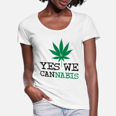 Yes We Cannabis Yes We Cannabis - T-shirt med U-udskæring dame