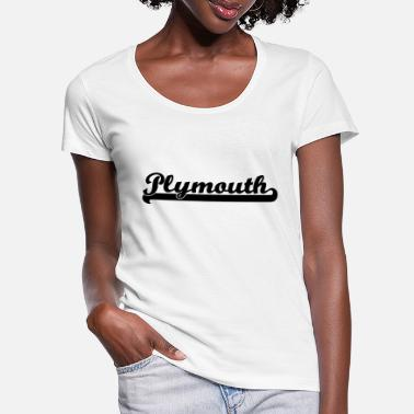 Plymouth plymouth writing - Women's Scoop-Neck T-Shirt