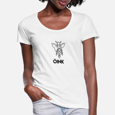 Oink Viking Pig - Women's Scoop-Neck T-Shirt