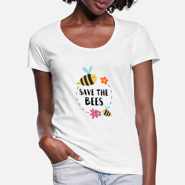 Save The Bees Save the Bees bees honing imker natuur milieu - Vrouwen U-hals T-Shirt