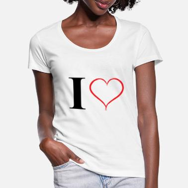 I love - Women's Scoop-Neck T-Shirt