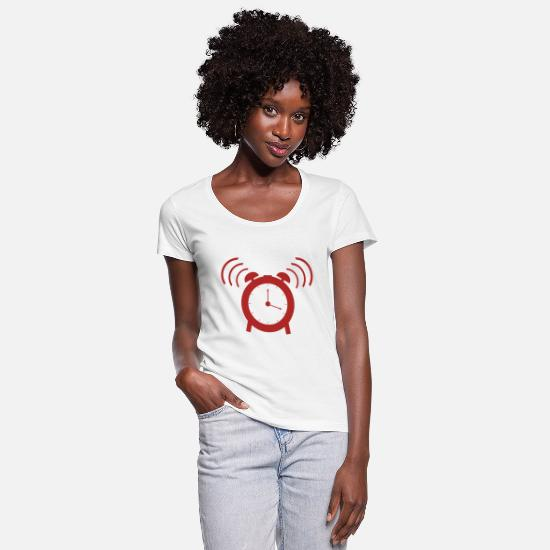 Clock T-Shirts - alarm clock - Women's Scoop-Neck T-Shirt white