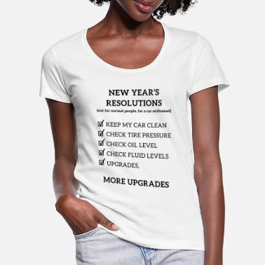 Race Car JDM New year resolution | T-shirts JDM - Women's Scoop-Neck T-Shirt