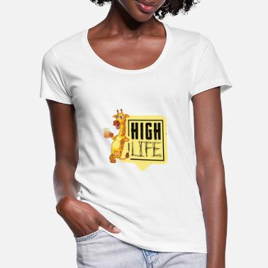 High Life Fun in life, high on life - T-shirt col rond profond Femme