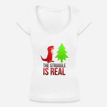 Trex - The struggle is real - Women's Scoop-Neck T-Shirt