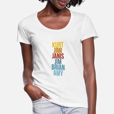 Jimy Amy Brian Jim Janis Jimi Kurt - Women's Scoop-Neck T-Shirt