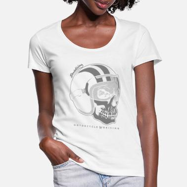 Bikes And Cars Collection helmet skull negative - Vrouwen U-hals T-Shirt