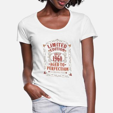 July 1960 60 Years - Aged To Perfection Gift - Women's Scoop-Neck T-Shirt