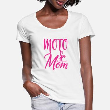 Over The Hill Moto Mom Motorcyclist Mama Motocross Mother's Day - Women's Scoop-Neck T-Shirt