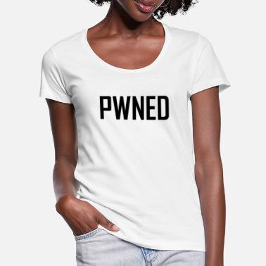 Pwnd pwned - T-shirt col rond profond Femme