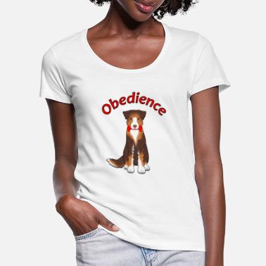 Obedience Obedience AS Apportl - T-shirt med u-ringning dam