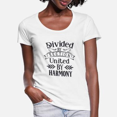 Pianist Divided by section united by - Women's Scoop-Neck T-Shirt