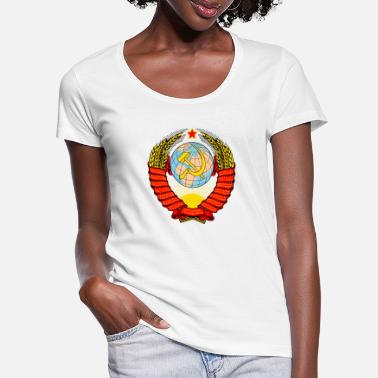 Ussr USSR soviet union - Women's Scoop-Neck T-Shirt