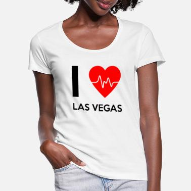 I Love La I Love Las Vegas - I love Las Vegas - Women's Scoop-Neck T-Shirt