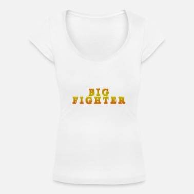 Bank To Sit Big Fighter - T-shirt med u-ringning dam