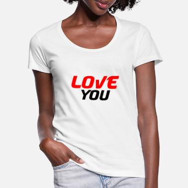 Amorous I love you - Women's Scoop-Neck T-Shirt