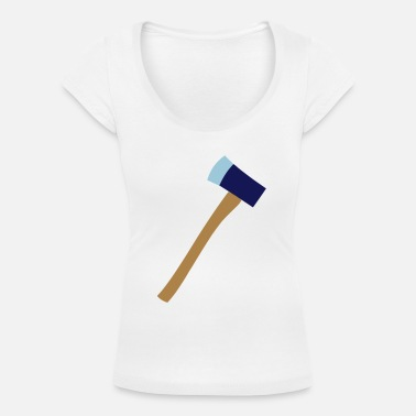 Axe axe - Women's Scoop-Neck T-Shirt