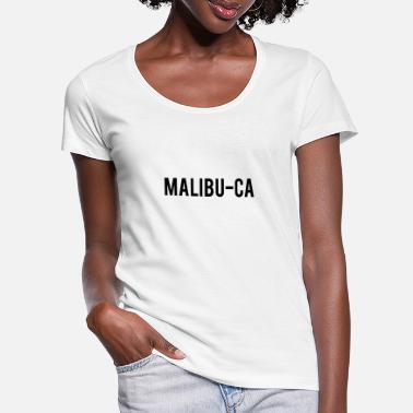 Malibu Malibu-ca - Women's Scoop-Neck T-Shirt