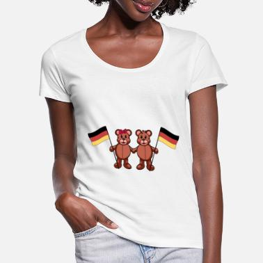 Match Germany German Länder Germany Flag Teddy - Women's Scoop-Neck T-Shirt