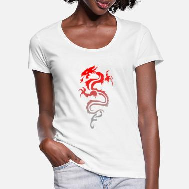 Tribal Dragon tribal dragon - Frauen T-Shirt mit U-Ausschnitt