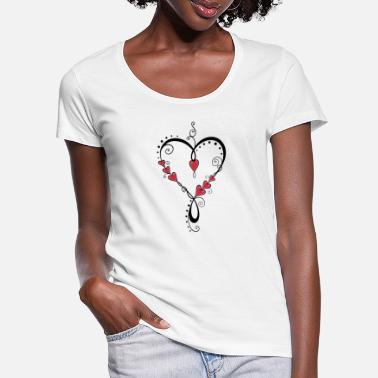 Heart Mother's Day Valentine's Day - Women's Scoop-Neck T-Shirt