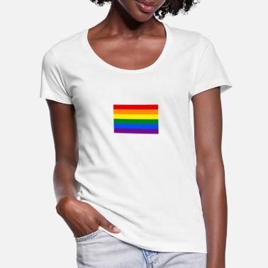 Lgbt Flag LGBT flag - Women's Scoop-Neck T-Shirt