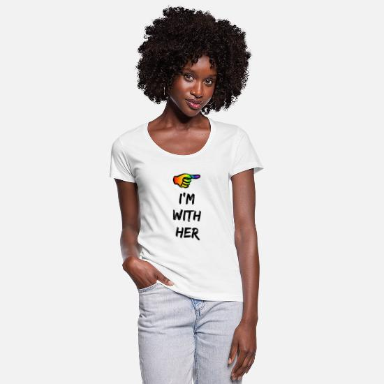Im Hers T-shirts - I'm With Her, LGBT gay pride - Vrouwen U-hals T-Shirt wit