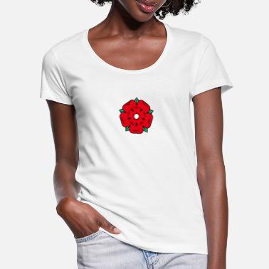 Lancashire Lancashire Rose - Women's Scoop-Neck T-Shirt