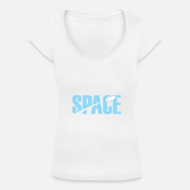 Space Ship Space Space Universe Rocket stars - Women's Scoop Neck T-Shirt